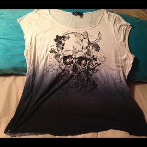 Rock and Republic skull ombré T-shirt